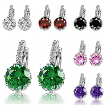 Fashion Rhinestone Zircon Earrings