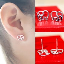 Cute Style Alloy Elephant Stud Earrings