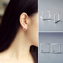 Concise Style Square Stud Earrings