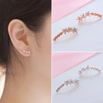 Fashion Hypoallergenic Zircon Star Shaped Earring
