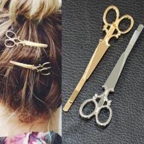 Simple Scissor Shaped Hairpin Hair Accessories