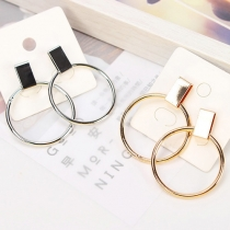 Fashion Geometric Cirlcle Shaped Earring