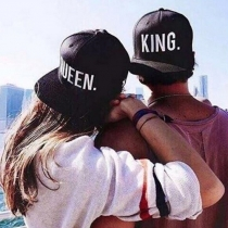 Fashion Letters Printed Couple Baseball Cap
