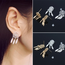 Bohemian Style Feathers Pendant Alloy Earrings