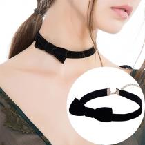 Sweet Style Bowknot Choker Necklace