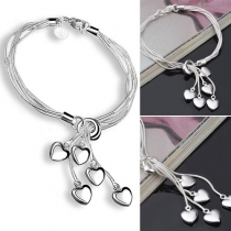 Fashion Heart Pendant Bracelet
