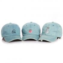 Cute Style Denim Baseball Hat for Kids