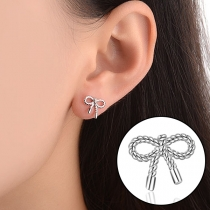 Sweet Style Bowknot-shaped Stud Earrings