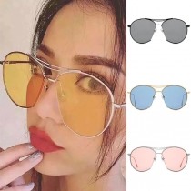 Fashion Round Frame Anti-UV Unisex Sunglasses