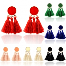 Ethnic Style Tassel Pendant Earrings