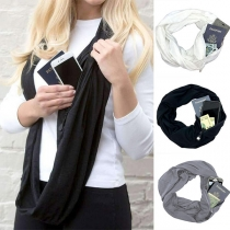 Fashion Solid Color Multifunction Scarf