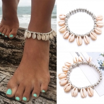 Fashion Shell Pendant Alloy Anklet