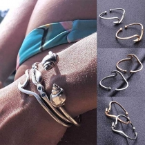 Bohemian Style Gold/Silver-tone Alloy Bracelet