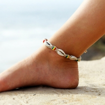 Fashion Colorful Beaded Shell Anklet