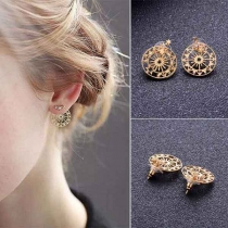 Simple Style Gold-tone Detachable Stud Earrings