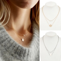 Simple Style Double-layer Necklace