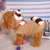 Cute Style Bear-shaped Contrast Color Pets Clothes