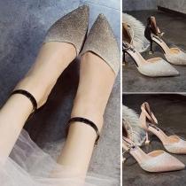 Fashion Pointed Toe High-heeled Ankle Strap Stilettos