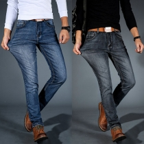 Fashion Middle Waist Slim Fit Men's Jeans