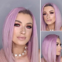 Fashion Color Gradient Straight Wigs