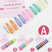 Fashion Candy Color Colourful Hairpin 5 pcs/Set