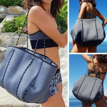 Fashion Solid Color Big Capacity Shoulder Bag
