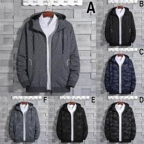 Fashion Long Sleeve Hooded Man's Sweatshirt Coat