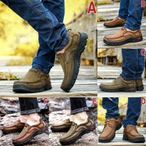 Fashion Flat Heel Round Toe Man's Shoes