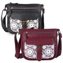 Fashion Lace Spliced Shoulder Messenger Bag