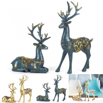 Creative Style Couple Elk Shaped Furnishing Articles