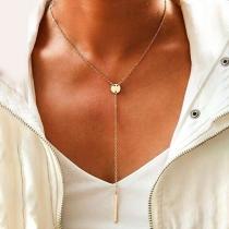 Simple Style Tassel Pendant Necklace