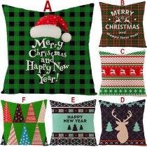 Fashion Christmas Printed Car Sofa Pillowcase