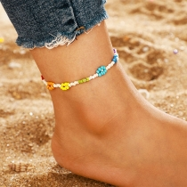 Bohemian Style Colorful Beaded Anklet
