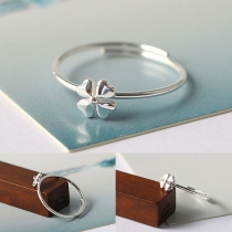 Fresh Style Four-leaved Clover Shaped Ring