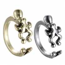 Retro Style Octopus Shaped Open Ring