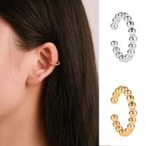 Simple Style U-shape Beaded Ear Clips