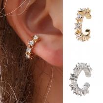 Fashion Rhinestone Inlaid U-shape Ear Clip(only sell one)