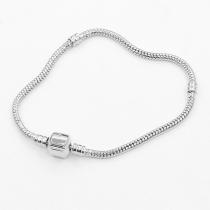 Simple Style Silver-tone DIY Bracelet