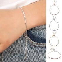 Fashion Rhinestone Inlaid Alloy Bracelet
