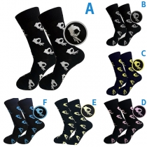 Chic Style Printed Breathable Socks