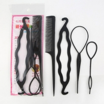 Multifunctional Meatball Head Hair Device Set 4 pcs/Set