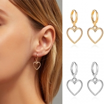 Fashion Hollow Out Heart Pendant Earrings