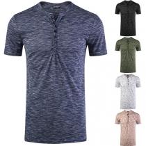 Fashion Short Sleeve V-neck Man's T-shirt