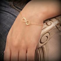 Simple Style Infinite Symbol Alloy Bracelet
