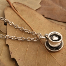 Chic Style Coffee Cup Pendant Necklace