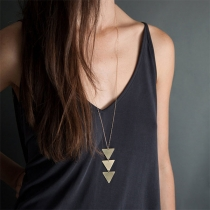 Simple Style Triangle Pendant Necklace