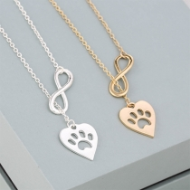 Fashion Infinite Symbol Heart Pendant Necklace