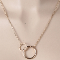 Fashion Dual-ring Pendant Necklace
