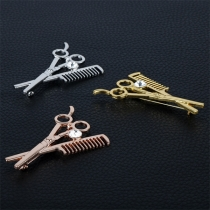 Chic Style Scissors Comb Shaped Brooch