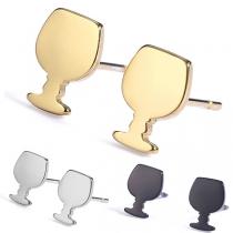 Chic Style Wine Glass Shaped Stud Earrings